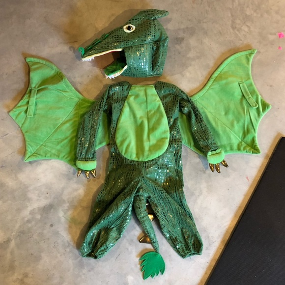 New Pottery Barn Kids GREEN DRAGON Costume Kids Size 3T